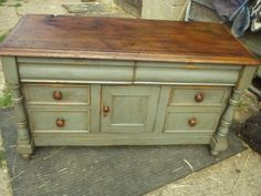 cool refinished buffet. OOhh...have something in my garage that i can work with...