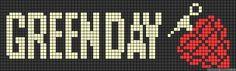 Cross Stitch Bookmarks, Cross Stitch Art, Cross Stitch Designs, Cross Stitching, Cross Stitch Patterns, Green Day, Perler Patterns, Loom Patterns, Marvel Cross Stitch
