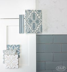 Find inspiration for your next home renovation. To give you some ideas,  we paired handmade tile with some of our favorite kitchen cabinets and  countertops | juleptile.com