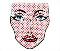 Comic book makeup. Website with Tons of Halloween makeup ideas from MAC!
