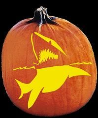SPOOKMASTER GREAT WHITE SHARK PUMPKIN CARVING PATTERN Halloween Pumpkin Carving Stencils, Scary Halloween Pumpkins, Amazing Pumpkin Carving, Pumpkin Carving Party, Pumpkin Art, Halloween Fun, Halloween Quotes, Halloween Costumes, Halloween Makeup