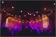 Stunning night shot of our festoon lights at a barn #wedding by Kari Bellamy www.karibellamy.com
