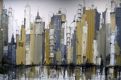 Golden Abstract Cityscape #Cityscape #Skyline #NYC