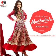 Drashti Dhami Angelic Red Anarkali Suit Manifest your women about town style like Drashti Dhami dressed in this red shaded net #anarkali suit. This outfit prettified with patch border work and resham #embroidery that make the apparel breathtakingly gorgeous. ☛Shop @ : http://goo.gl/YuczNz