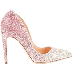 Pre-owned Rupert Sanderson Glitter Heels ($310) ❤ liked on Polyvore featuring shoes, pumps, pink, women shoes heels, pink sparkly shoes, pink sparkly pumps, pink glitter shoes, glitter pumps and pointy toe shoes