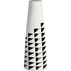 CB2 Marlow Vase ($25) ❤ liked on Polyvore featuring home, home decor, vases, black white home decor, black vase, black and white vase, black and white home decor and cb2