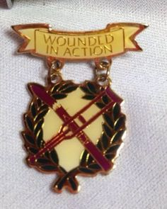 Wounded In Action Pin - Vintage ? Signed Park