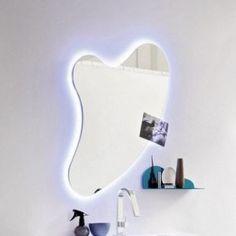 specchio e specchiera bagno cuore con led perimetrale arbi arredobagno
