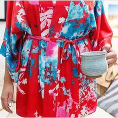 Wake up in a pretty robe from Natori. Make it yours on natori.com