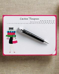 A note pad and pen is always handy.  Isn't this a great idea!...and they can take it home with them.  Of course to be personalized you'd need to know in advance they are coming to visit.  (Such a neat gift for anytime, though.)  Personalized Mouse Pad/Notepad at Neiman Marcus.