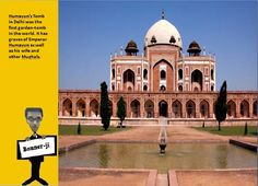 Humayun's Tomb in Delhi was the first garden-tomb in the world. It has graves of Emperor Humayun as well as his wife and other Mughals. #didyouknow .#Travel #Tourism #Religion #Hindu #mythology #art #craft #facts #information #placestovisit #history #adventure #Asia #Hindustan #bannerji #kantinathbanerjee #quiz #generalknowledge