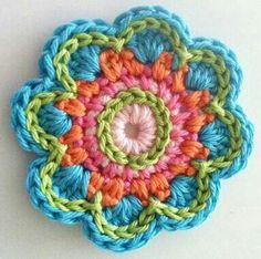 pretty crochet flower mandala