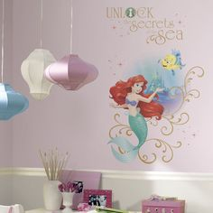 Disney Little Mermaid Secrets Peel And Stick Decal   Wall Sticker Outlet