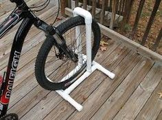 Resultado de imagen para pvc bike stand