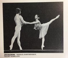 Gelsey Kirkland and Mikhail Baryshnikov in Awakening pas de deux - American Ballet Theater