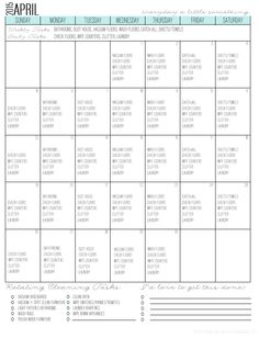 Need to establish a cleaning routine that so actually works? Try this practical, doable and easy-to-implement schedule with FREE printable calendar.