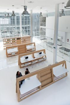 Irapuato, Guanajuato, Mexico National Laboratory of Genomics for Biodiversity by TEN ARQUITECTOS: the best drawing tables I've seen...EVER!!