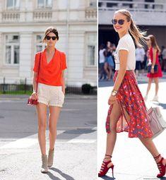 Looks de verão com saia e short