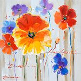Found it at Wayfair - Revealed Artwork Primary Floral II Original Painting on Wrapped Canvas