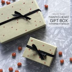This box makeover project is pretty easy, and is a nice way to turn a plain box into something special for Valentine's Day. All you need is Acrylic craft paint, a fine-tip paintbrush and a p...