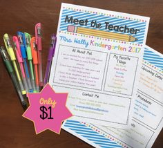 Editable Meet the Teacher Newsletter for Open House - Back to School Night or the first day of school