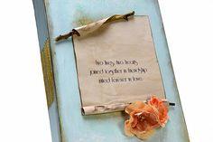 mint wedding guest book signA4 photo album personalized