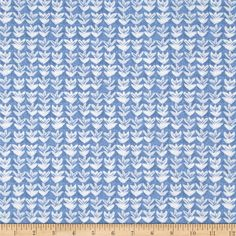 Ella Small Flower Light Blue from @fabricdotcom  Designed by Whistler Studios for Windham, this cotton print collection features classic blue and white prints. Perfect for quilting, apparel, and home decor accents.