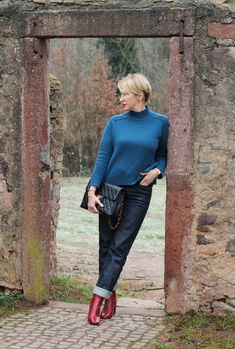 Rollkragenpullover – perfekt für kalte Tage Jeans Outfit Winter, Casual Winter Outfits, Jean Outfits, Chic Outfits, Fashion Outfits, Fashion Ideas, Casual Chic Style, Casual Street Style, Jeans Trend