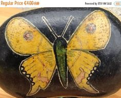 EASTER SALE Painted Rocks//Painted Pebbles//Painted Stones//Signed By Artist Circa 1966//Found And Flogged