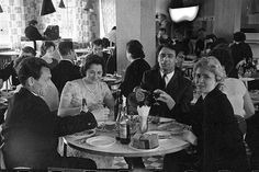 Celebrating a special occasion in a Soviet restaurant