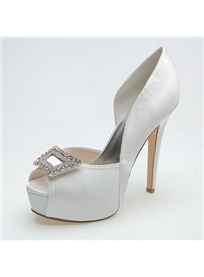319a61ce46d Fashion Concise Crystal Peep Toe High Heel Wedding Shoes. Bev Gilbert · Bridal  wear   accesories