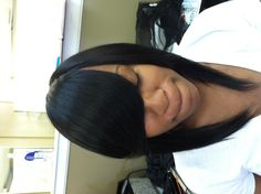 Sleek and beautiful! Full sew in weave !! Stylist Myechia Love