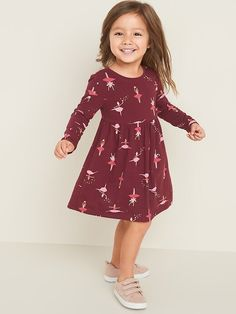 Old Navy Fit & Flare Jersey Dress for Toddler Girls , Toddler Girl Gifts, Toddler Boy Fashion, Toddler Girl Style, Toddler Girl Outfits, Baby Girl Fashion, Toddler Dress, Toddler Girls, Baby Girl Jeans, Girls Clothes Shops