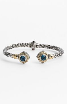 Free shipping and returns on Konstantino 'Hermione' Hinged Cuff at Nordstrom.com. Old-world Grecian motifs inspire the handcrafted detail coursing throughout this stackable silver cuff and culminating with deep-blue topaz and warm 18-karat gold.