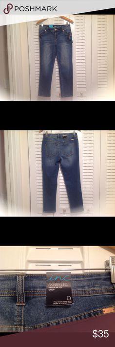 """Brand New I.N.C. Skinny cropped, reg. Fit jeans Brand new, skinny legged ,regular fit, cropped jeans. Flawless inseam 24"""" I.N.C.  Jeans Skinny"""