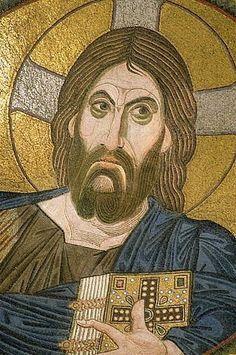 """Christ Pantocrator,"" c. 1100, Church at Daphni (near Athens)"