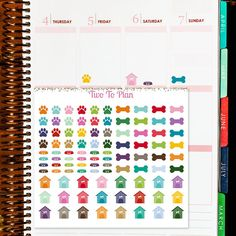 Dog Sticker Set! Planner stickers by Two To Plan on Etsy! Perfect for the Erin Condren Life Planner!