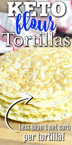 Flour Tortillas - Now you can indulge in your favorite Mexican food dishes with this Keto Flour Tortilla recipe. Tacos, fajitas, enchiladas, and more are waiting for you! Coconut Flour Tortillas, Keto Flour, Recipes With Flour Tortillas, Low Carb Tortillas, Almond Flour, Recipes With Flour Easy, Easy Recipes, Coconut Flour Bread, Coconut Flour Recipes