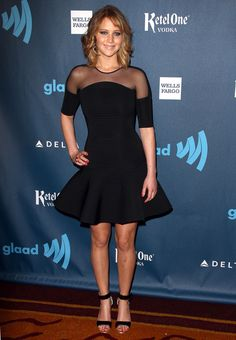 Jennifer Lawrence At The 24th Annual GLAAD Awards | The Most Fab Celebrity Outfits Of 2013