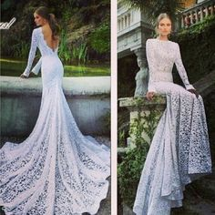 Wedding gown lace train