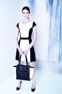 Vestido negro con blanco julio