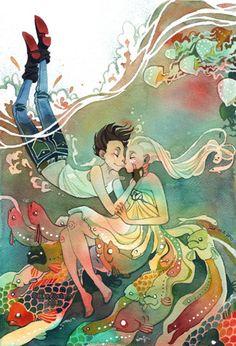 wet kiss by *tir-ri