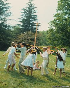 May 1: May Day. This centuries-old tradition is said to celebrate the start of summer, even though we're barely into spring. Whatever you're commemorating, do so with a maypole dance, during which revelers holding ribbons dance around a pole in celebration of the changing seasons.