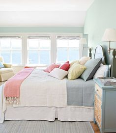 If I had a beach house this is what I would want the bedroom to look like (from homedit.com)
