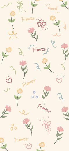 Vintage Flowers Wallpaper, Flowery Wallpaper, Cute Pastel Wallpaper, Flower Phone Wallpaper, Soft Wallpaper, Cute Patterns Wallpaper, Aesthetic Pastel Wallpaper, Kawaii Wallpaper, Animal Print Wallpaper