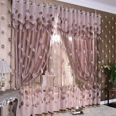 The Cloth House deciduous love bronzing jacquard burnt-out triple craft curtains finished bedroom living room window screening Specials-ZZKKO