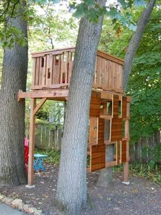 20 Best Tree Fort images   Tree fort, Tree house, Backyard