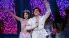 Jasmine and Aladdin in Disney's Aladdin on Broadway.