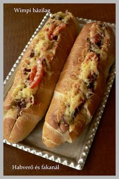 Hungarian Recipes, Hungarian Food, Hot Dog Buns, Hot Dogs, Meat Recipes, Cooking Recipes, Hamburger, Sandwiches, Food And Drink
