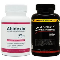 Abidexin and Abidexin Super Shredded - Best Diet Pill - Diet Pills That Work Fast and the Best Appetite Suppressant - Fat Burner for the Best Diets
